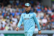Jason Roy of England during the ICC Cricket World Cup 2019 Final match between New Zealand and England at Lord's Cricket Ground, St John's Wood, United Kingdom on 14 July 2019.