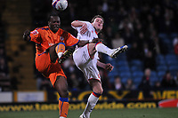 Photo: Tony Oudot/Richard Lane Photography. Crystal Palace v Reading. Coca-Cola Football League Championship. 21/03/2009. <br /> Andre Bikey of Reading and Anthony Stokes of Palace are both hurt in the challenge