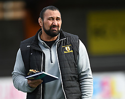 Merthyr Coach Dale McIntosh<br /> <br /> Photographer Mike Jones/Replay Images<br /> <br /> Principality Premiership Merthyr v Pontypridd - Saturday 17th February 2018 - The Wern Merthyr Tydfil<br /> <br /> World Copyright © Replay Images . All rights reserved. info@replayimages.co.uk - http://replayimages.co.uk
