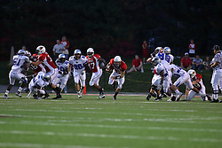 20 September 2008: Kevin Brockway rushes up the middle for a gain on a quarterback keeper during Illinois State Redbirds home opener lose to the #20 ranked Eastern Illinois Panthers at Hancock Stadium on the campus of Illinois State University in Normal Illinois. Final score was 25-21.