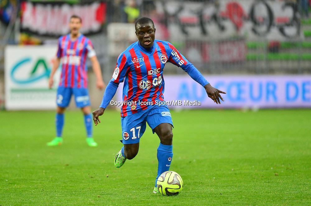 N'Golo KANTE - 25.04.2015 - Caen / Guingamp - 34eme journee de Ligue 1<br /> Photo : David Winter / Icon Sport