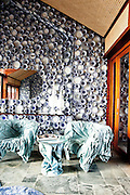 "Iniala Luxury Residence,The Campana ""Golden Sea"" living room by Fernando and Humberto Campana, Brazil"