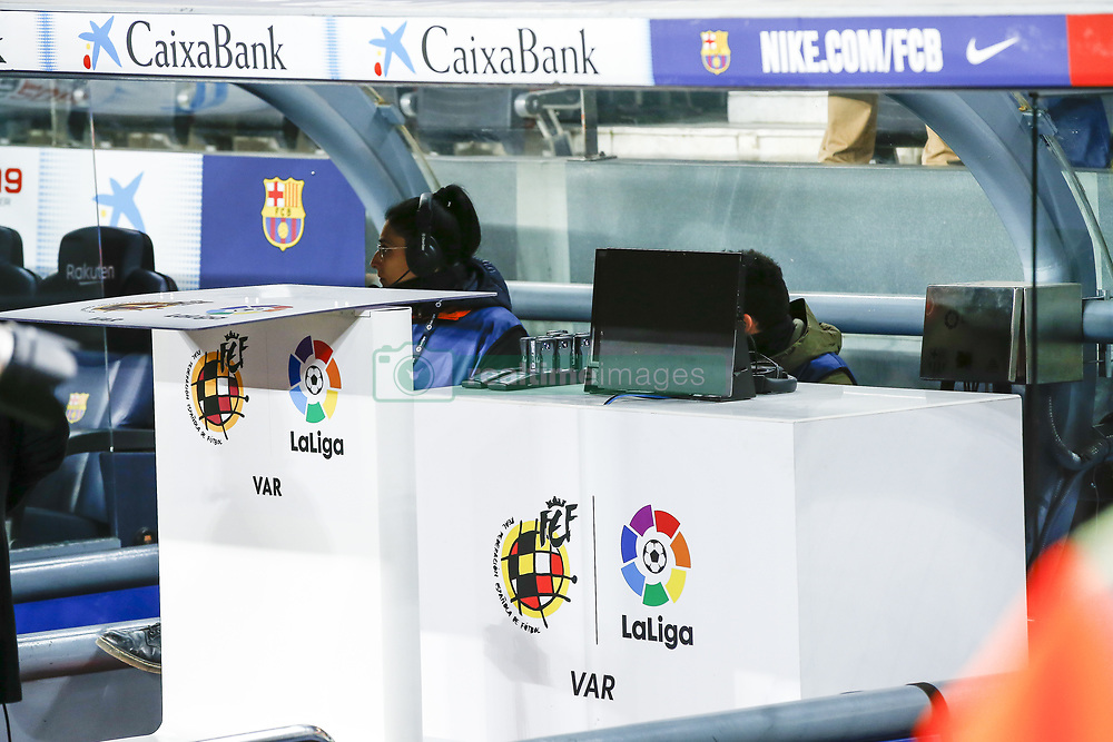 January 13, 2019 - Barcelona, Catalonia, Spain - VAR system during the match FC Barcelona against Eibar, for the round 19 of the Liga Santander, played at Camp Nou  on 13th January 2019 in Barcelona, Spain. (Credit Image: © Mikel Trigueros/NurPhoto via ZUMA Press)