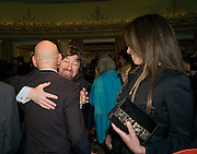 Sir Ben Kingsley; SIR TREVOR NUNN; Daniela Barbosa de Carneiro , South Bank Show Awards, Dorchester Hotel, Park Lane. London. 20 January 2009 *** Local Caption *** -DO NOT ARCHIVE-© Copyright Photograph by Dafydd Jones. 248 Clapham Rd. London SW9 0PZ. Tel 0207 820 0771. www.dafjones.com.<br /> Sir Ben Kingsley; SIR TREVOR NUNN; Daniela Barbosa de Carneiro , South Bank Show Awards, Dorchester Hotel, Park Lane. London. 20 January 2009