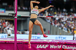 London, August 12 2017 . Marie-Laurence Jungfleisch, Germany, the women's high jump final on day nine of the IAAF London 2017 world Championships at the London Stadium. © Paul Davey.