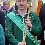 Jason Smyth is an Gold Metal sprinter takes part the St Patrick's Day festival and Parade in London set to go green for another world-class 2016 on 13th March 2016 in London, England,UK. Photo by © 2016