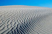 Pattern of ripples in sand dunes<br /> Great Sand Hills<br /> Saskatchewan<br /> Canada