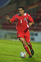 Wrexham, Wales - Wednesday, August 12th, 2009: Wales' Neil Taylor during the UEFA Under 21 Championship Qualifying Group 3 match at the Racecourse Ground. (Photo by Chris Brunskill/Propaganda)