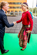 THE HAGUE - Queen Maxima reopens the modernized office of the Dutch Association of Insurers during the celebration of the 40th anniversary of the covenant. copyright robin utrecht