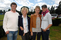 Left to right, JACK KIDD, WENDY KIDD, the COUNTESS OF MORNINGTON and JODIE KIDD at a charity polo match organised by Jaeger Le Coultre at Ham Polo Club, Richmond, Surrey on 29th June 2007.<br />