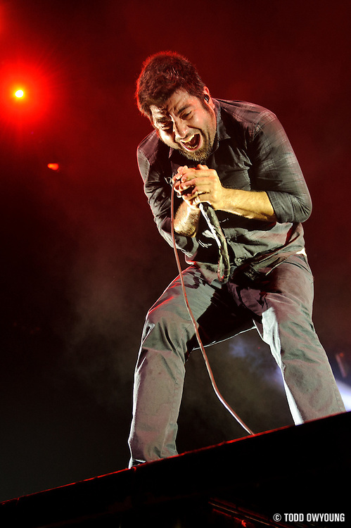 The Deftones performing in support of Alice in Chains on the Black Diamond Skye Tour on October 1, 2010 at the Scottrade Center in St. Louis.