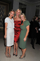 Left to right,  MARTHA WARD, EMMA FARRAH and SACHA FORBES at the Maggie's Autumn Summer Party held at Claridge's, Brook Street, London on 12th October 2011.
