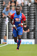 Crystal Palace defender, Pape Souare (23) on his own during the Pre-Season Friendly match between Fulham and Crystal Palace at Craven Cottage, London, England on 30 July 2016. Photo by Matthew Redman.