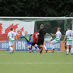 26/7/2018 - GOAL. Joseph Chipolina of Lincoln Red Imps scores to make it 1-1 during the europa league qualifier between TNS (The New Saints) (WAL) FC and Lincoln Red Imps (GIB) at Park Hall <br /> <br /> Pic: Mike Sheridan/County Times<br /> MS187-2018