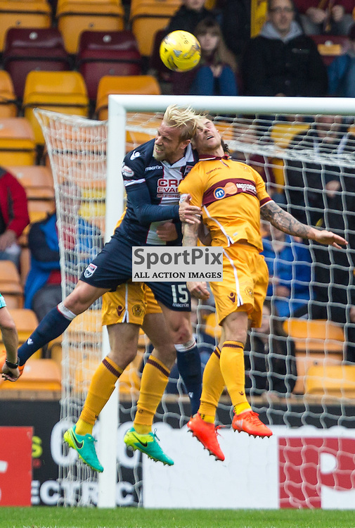 Andrew Davies in action during the match between Motherwell and Ross County (c) ROSS EAGLESHAM | Sportpix.co.uk