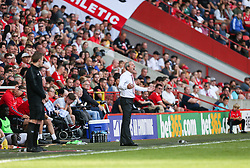Charlton Athletic manager Lee Bowyer gets animated - Mandatory by-line: Arron Gent/JMP - 14/09/2019 - FOOTBALL - The Valley - Charlton, London, England - Charlton Athletic v Birmingham City - Sky Bet Championship