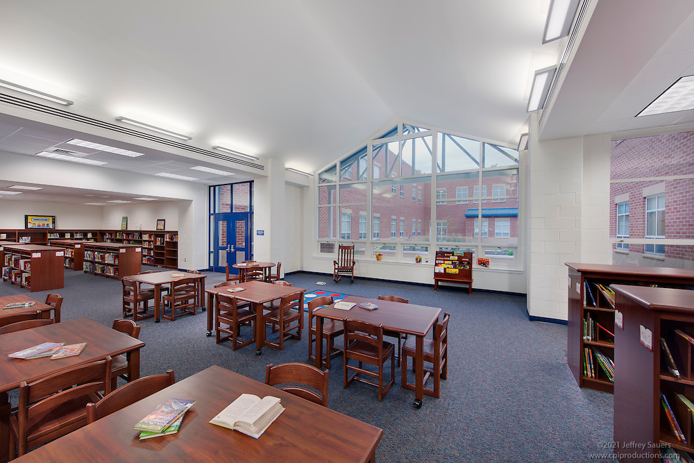 Architectural Interior Of Cardinal Ridge Elementary School In Loudoun County VA By Jeffrey Sauers Commercial