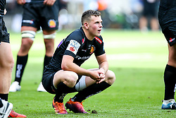 Joe Simmonds of Exeter Chiefs cuts a dejected figure after defeat to Saracens in the Premiership Rugby Final - Mandatory by-line: Robbie Stephenson/JMP - 01/06/2019 - RUGBY - Twickenham Stadium - London, England - Exeter Chiefs v Saracens - Gallagher Premiership Rugby Final