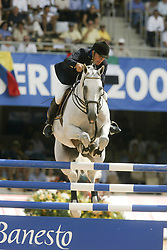 Eriksson Peter, SWE, VDL Cardento<br /> Nations Cup round 1<br /> World Equestrian Games Jerez de la Fronteira 2002<br /> Photo © Hippo Foto - Dirk Caremans