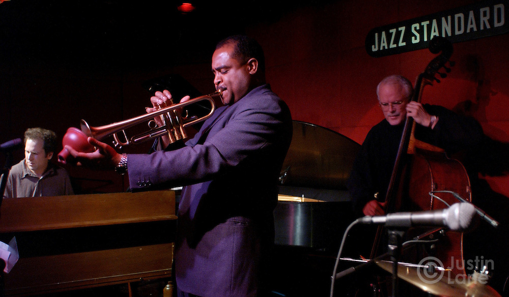 Terell Stafford, trumpet, and other members of Matt Wilson's Arts and Crafts perform at the Jazz Standard in New York City 10 February 2005.<br /> JUSTIN LANE FOR THE DETROIT FREE PRESS