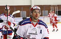 2020-02-12 | Ljungby, Sweden: Huddinge IK (9) Victor Andersson during the game between IF Troja / Ljungby and Huddinge IK at Ljungby Arena ( Photo by: Fredrik Sten | Swe Press Photo )<br /> <br /> Keywords: Ljungby, Icehockey, HockeyEttan, Ljungby Arena, IF Troja / Ljungby, Huddinge IK, fsth200212, ATG HockeyEttan, Allettan