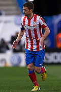 MADRID, SPAIN- FEBRUARY 24: Gabi Fernandez of Club Atletico de Madrid in action during the Liga BBVA between Atletico de Madrid and RCD Espanyol at the Vicente Calderon stadium on February 24, 2013 in Madrid, Spain. (Photo by Aitor Alcalde Colomer).