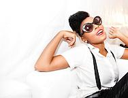 Date: August 25-26, 2012. AfroPunk Festival 2012. Location: Commodore Barry Park, Brooklyn, NY. Street Style. Photographs by Margarita Corporan. CREDIT: Margarita Corporan. CAPTION: Janelle Monae