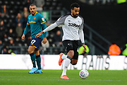 Derby County midfielder Tom Huddlestone during the EFL Sky Bet Championship match between Derby County and Hull City at the Pride Park, Derby, England on 18 January 2020.