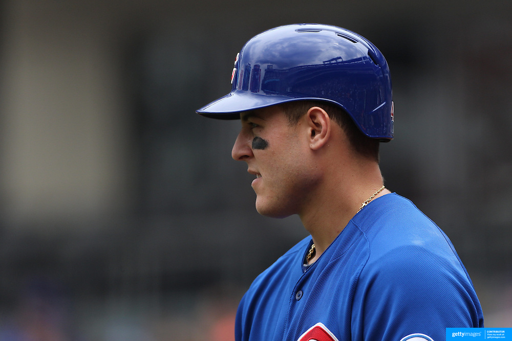 Anthony Rizzo, Chicago Cubs, batting during the New York Mets Vs Chicago Cubs MLB regular season baseball game at Citi Field, Queens, New York. USA. 2nd July 2015. Photo Tim Clayton