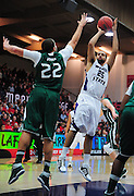 November 28, 2011; Moraga, CA, USA; Weber State Wildcats forward Byron Fulton (25) shoots over Saint Mary's Gaels forward Rob Jones (22) during the first half of the Shamrock Office Solutions Classic championship game at McKeon Pavilion.