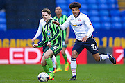 AFC Wimbledon midfielder Jake Reeves (8)  plays a through ball during the EFL Sky Bet League 1 match between Bolton Wanderers and AFC Wimbledon at the Macron Stadium, Bolton, England on 4 March 2017. Photo by Simon Davies.