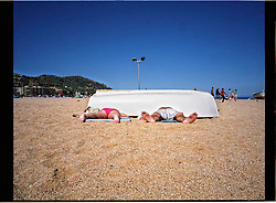 2012.Tossa de Mar, Girona.<br /> An afternoon on the beach.&copy;Carmen Secanella