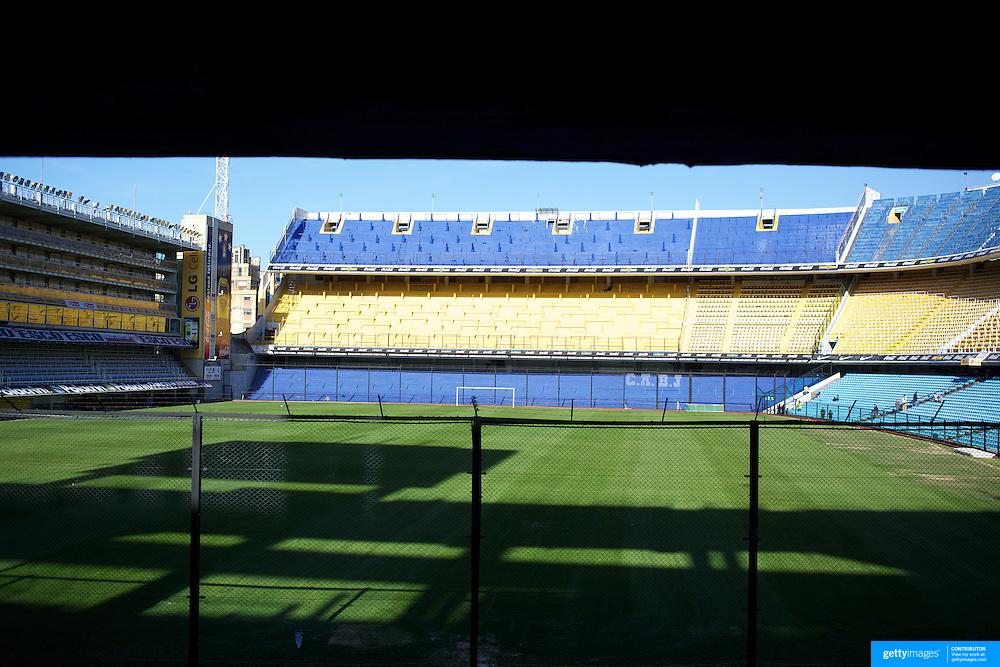 The famous Boca Juniors football stadium, La Bombonera, in La Boca region of Buenos Aires, Argentina, 25th June 2010. Photo Tim Clayton.