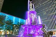 fountain sq at night