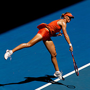 Elena Dementieva of Russia  during her Quarter Final victory over Carla Suarez Navarro of Spain at the Australian Tennis Open on January 28, 2009 in Melbourne, Australia. Photo Tim Clayton    .