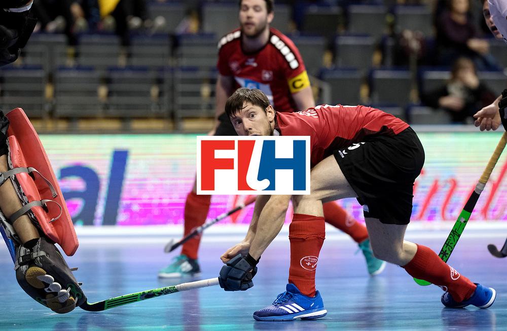 BERLIN - Indoor Hockey World Cup<br /> Men: Switzerland - Belgium<br /> foto: RICHNER Roman.<br /> WORLDSPORTPICS COPYRIGHT FRANK UIJLENBROEK