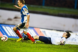 Falkirk's Blair Alston misses a first half chance.<br /> Cowdenbeath 0 v 2 Falkirk, Scottish Championship game today at Central Park, the home ground of Cowdenbeath Football Club.<br /> &copy; Michael Schofield.