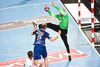 Arret Thierry Omeyer / Vid Kavticnik - 07.05.2015 - Montpellier / Paris Saint Germain - 22eme journee de Division 1<br />Photo : Alexandre Dimou / Icon Sport