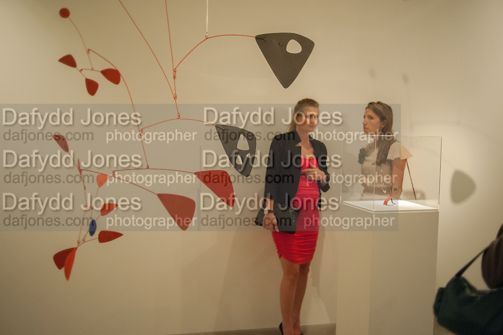 CATALINA MARCH; BEATRIZ ORDOVAS;  Pilar Ordovas hosts a Summer Party in celebration of Calder in India, Ordovas, 25 Savile Row, London 20 June 2012