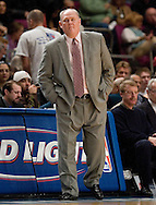 George Carl of the Denver Nuggets coaches against the New York Knick at Madison Square Garden, New York on Saturday  16 December 2006. (Andrew Gombert for The New York TImes)<br />