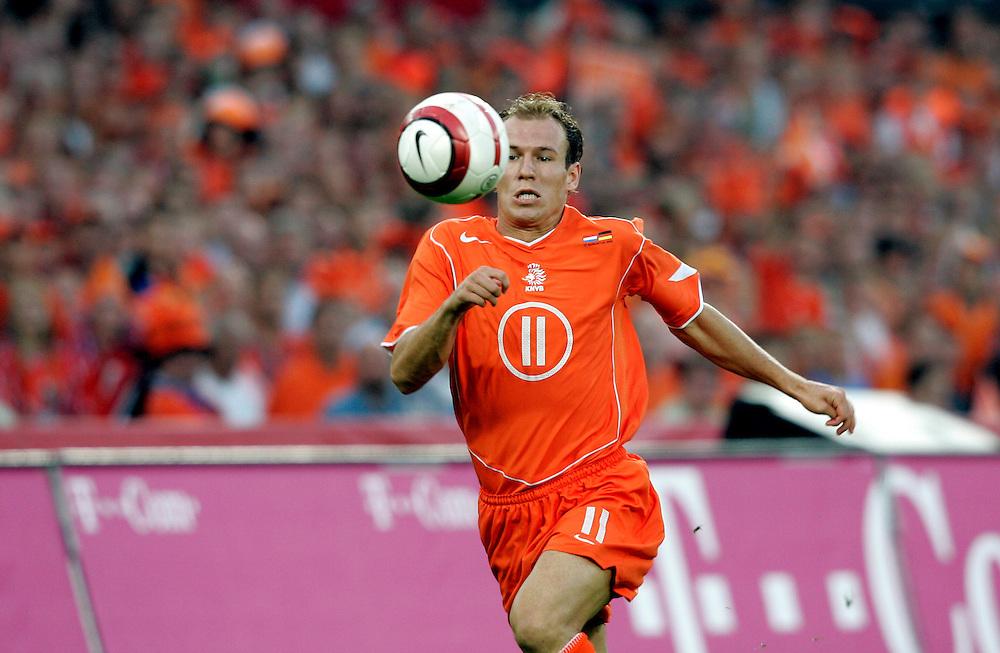 Holland. Rotterdam. 17/08/05. Holland-Germany. Arjen Robben. Photo: Gerrit de Heus
