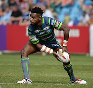James Segeyaro of Leeds Rhinos during the Super 8s Qualifiers match at The Big Fellas Stadium, Post Office Road, Pontefract.<br /> Picture by Richard Land/Focus Images Ltd +44 7713 507003<br /> 06/08/2016