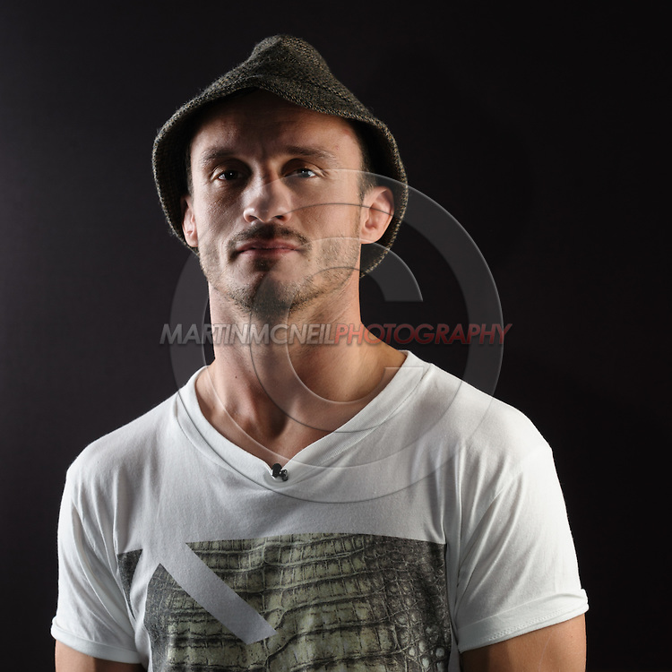 "BIRMINGHAM, ENGLAND, NOVEMBER 3, 2011: Brad Pickett poses for a portrait after the press conference for ""UFC 138: Munoz vs. Leben"" inside the Hilton Hotel in Birmingham, England on November 3, 2011."
