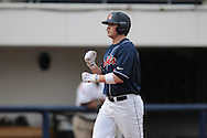 Ole Miss' Preston Overbey(1) hits a two run home run in the second inning vs. Wright State at Oxford University Stadium in Oxford, Miss. on Saturday, February 19, 2011.