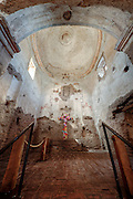 This is what is left of the interior of the church at Tumacacori National Historic Park in southern Arizona.