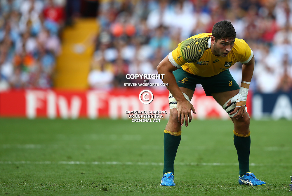 BIRMINGHAM, ENGLAND - SEPTEMBER 27:  Rob Simmons of Australia during the Rugby World Cup 2015 Pool A match between Australia and Uruguay at Villa Park on September 27, 2015 in Birmingham, England. (Photo by Steve Haag/Gallo Images)