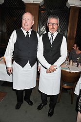 Left to right, LORD FELLOWES and GRIFF RHYS-JONES at One Night Only at The Ivy held at The Ivy, 1-5 West Street, London on 2nd December 2012.