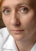 First time author Caro Ramsay photographed at her full time job as a Osteopath.