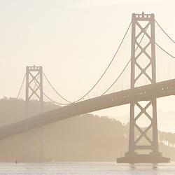 The Bay Bridge at sunrise in San Francisco. CA.