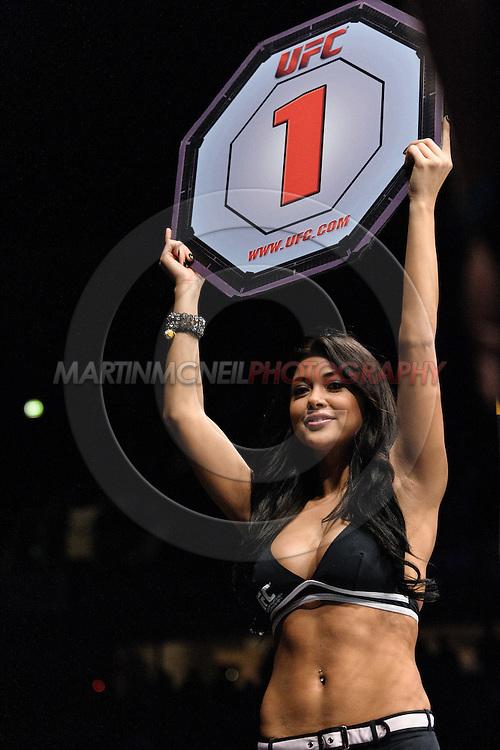 OBERHAUSEN, GERMANY, NOVEMBER 13, 2010: Arianny Celesete during UFC 122 inside the Konig Pilsner Arena in Oberhausen, Germany.
